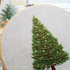 A Stitch In Time - Hand embroidery patterns - Christmas Embroidery Patterns, Embroidery Stitches Tutorial, Hand Embroidery Stitches, Crewel Embroidery, Cross Stitch Embroidery, Embroidery Designs, Vintage Embroidery, Embroidery Ideas, Knitting Stitches