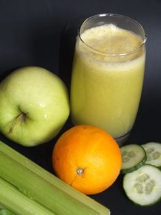 Džus celer, pomeranč, okurka a jablko Honeydew, Smoothies, Homemade, Fruit, Drinks, Food, Beverages, Home Made, Honeydew Melon