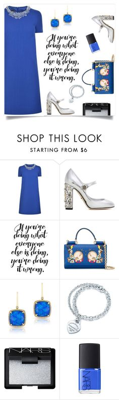 """Dolce"" by tina-pieterse ❤ liked on Polyvore featuring Boutique Moschino, Dolce&Gabbana, Anne Sisteron, Tiffany & Co. and NARS Cosmetics"