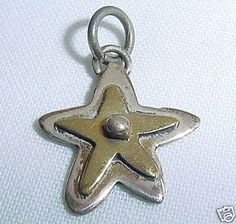 SMALL Spectacular STAR Signed OAHD 925 STERLING Pendant or CHARM Mexican VINTAGE