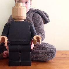 Cardboard Lego Man | Mumaroo