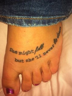 I am thinking on my right foot next to the breast cancer ribbon.  quote tattoo