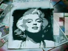 multi-layer stencil art tutorial Marilyn Monroe.