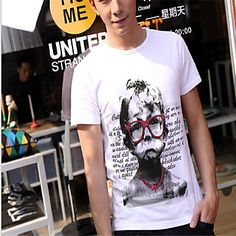 Check out this cool vintage casual white T-shirt for guys! Like it? Click on the picture