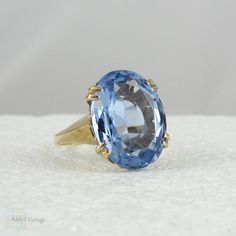 Hey, I found this really awesome Etsy listing at https://www.etsy.com/listing/130218936/vintage-blue-topaz-ring-large-oval-sky