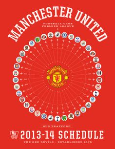 Manchester United 2013-14 Premier League Schedule