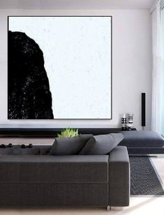 Abstract Landscape Painting, Landscape Paintings, Abstract Art, Modern Office Decor, Modern Art Paintings, Black And White Abstract, Living Room Paint, Minimalist Art, Original Art