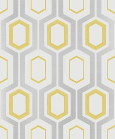 Mortimer Yellow wallpaper by Coloroll