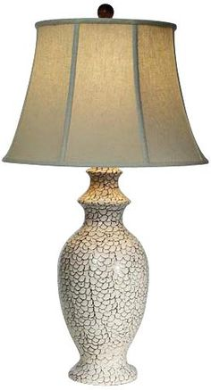 Natural Light Bianco Emerald Sea Ceramic Table Lamp -