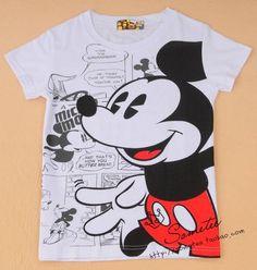 Free ship women/lady MICKEY mouse women's short-sleeve 100% cotton t-shirt $7.99