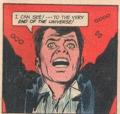 """Comic Boys Say.. """" I can see to the very end of the universe"""" #comic #vintage #popart """""""