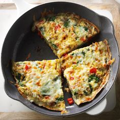 Frittata Florentine Recipe -My family is all about brunchy meals like this gorgeous Italian omelet. Lucky for us, it's loaded with ingredients we tend to have at the ready. —Jenny Flake, Newport Beach, California