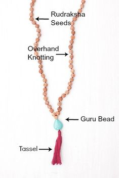 Mala beads are a set of beads that have traditionally been used in prayer and meditation — often called prayer beads.Our mala beads can be worn by anyone seeking a calmer mind, body, and spirit and are perfect for japa meditation. Here we break down all the different parts of our authentic malas