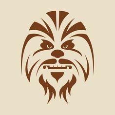 Star Wars Chewbacca stencil - Star Wars Tshirt - Trending and Latest Star Wars Shirts - Chewbacca, Plotter Silhouette Portrait, Tatoo Star, Stencils, Inkscape Tutorials, Star Wars Girls, Grafiti, Desenho Tattoo, Star Wars Tshirt