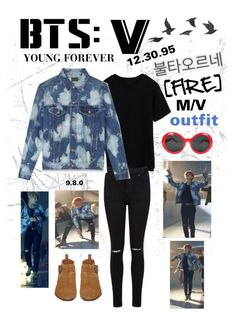 """BTS: V ""Fire"" M/V Outfit"" by itzbrizo ❤ liked on Polyvore featuring Miss Selfridge, Theory and Jayson Home"