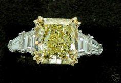 5+Carat Fancy Yellow Diamond Ring