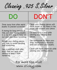 Here are some very simple tips to help you clean your silver and keeping it look NEW!