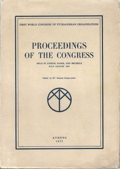 The 1st World Congress of Pythagorean Organizations