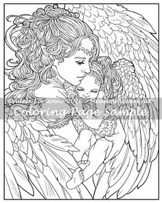 Art Of Meadowhaven Coloring Page A Mothers Love By Saimaindeviantart On