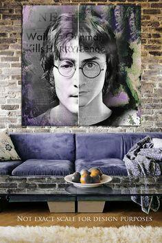 "John Lennon Original Painting The Beatles Art Harry Potter Art  ""Imagine"" Canvas Print  36"" x 36"" -Portrait -John Lennon Painting Art on Etsy, $475.00"