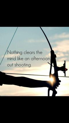 Nothing clears the mind like an afternoon out shooting #archery