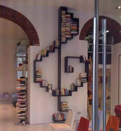 Books and Music - 60 Creative Bookshelf Ideas  <3 <3