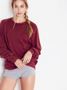 Solid Rough and Tumble Sweatshirt from Free People
