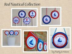 Red and Blue Nautical Baby Shower  Baby Shower by PartyandMore, $12.00