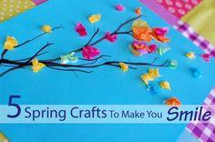 5 Spring Crafts To Make You Smile #kids
