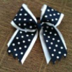 Polka dot cheer bow