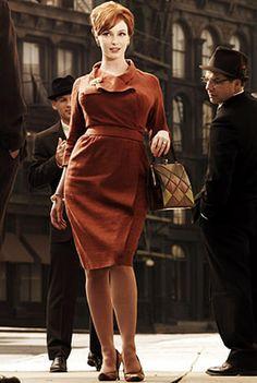 Coveted: Mad Men actress Christina Hendricks (above) has helped make the hourglass silhouette enviable Mad Men Fashion, Fashion 101, Fashion Trends, Fashion Ideas, Womens Fashion, Fashion Vintage, Ladies Fashion, Retro Fashion, Claudia Cardinale