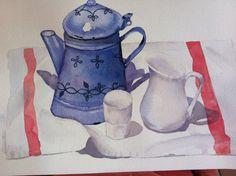 La cafetière bleue