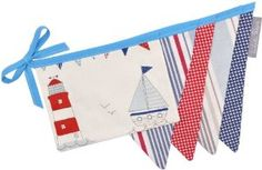 Beach Hut Blue Bunting 4m (Choice of Lengths): Amazon.co.uk: Kitchen & Home