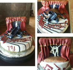 Tarta de cumpleaños de estudiante de danza  clásica