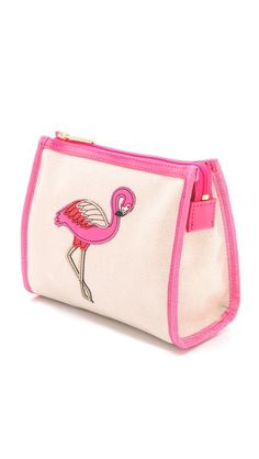 @toryburch flamingo cosmetic case