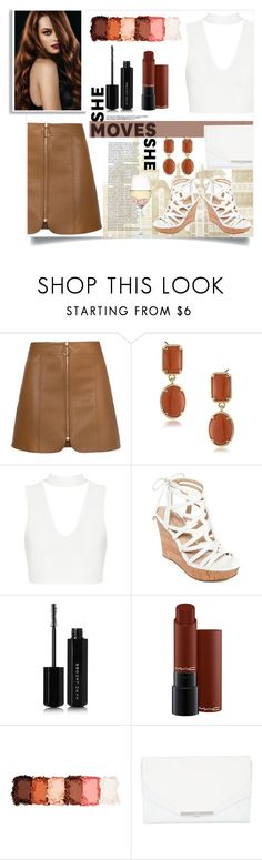 """""""Untitled #209"""" by j4wahir on Polyvore featuring 1st & Gorgeous by Carolee, GUESS, Marc Jacobs, MAC Cosmetics, NYX, Khirma Eliazov and RabLabs"""