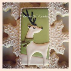Christmas White Reindeer Cookies