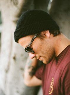 beanie , sunglasses , tattoo , t-shirt tee . summer . jfav