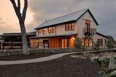 san francisco pole barn house exterior transitional with shed roof ...