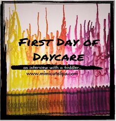 Lifestyle blogger MimiCuteLips does a recap of her toddlers first day at daycare. Includes a full video interview with a very precocious toddler.
