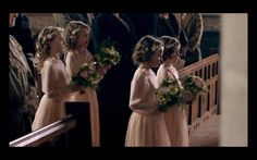 Downton Abbey flower girls