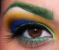 Makeup inspired by the comic book character Polaris.