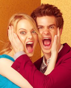 Andrew Garfield and Emma Stone are a little too cute....
