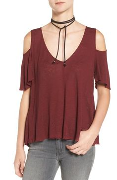 a49a4a2d6f62eb Free People Bittersweet Cold Shoulder Top