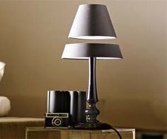The Levitating Lamp - has electromagnetic components that enable it (or parts of it) to float in thin air