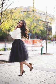 Holiday Party Style - the black Ashley tulle skirt by Bliss Tulle