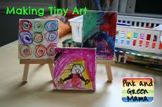 Pink and Green Mama: Making Tiny Art With Kids