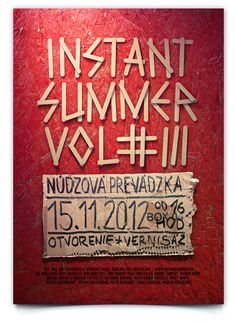 Touch & Feel // Instant summer poster by Lukas Karasek, via Behance Graphic Design Letters, Graphic Design Typography, Lettering Design, Typo Poster, Typographic Poster, Typography Layout, Typography Letters, Summer Typography, Branding