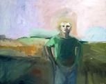 Elmer Bischoff (American, Bay Area Figurative Movement, 1916–1991): Man and Lavender Sky, 1958.