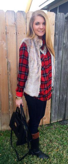 Flannel, Shell, Southern, Vest, Beautiful Women, Fur, Jackets, Fashion, Good Looking Women